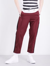 Diesel P Newton Straight Leg High Rise Stretch Trousers Red