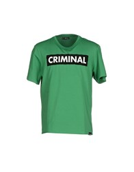 Criminal Topwear T Shirts Men Green