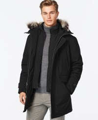 London Fog Bib Hooded Snorkel Coat Black