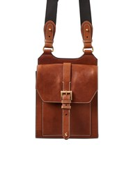 Joules Stratford Tan Leather Cross Body Bag Brown