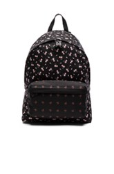 Givenchy Flower Print Nylon Backpack In Black Floral Black Floral
