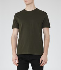 Reiss Bless Mens Crew Neck T Shirt In Green