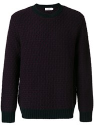 Closed Knitted Jumper Wool L Red