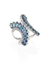 Hueb Mirage Diamond And London Blue Topaz Ring