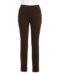 Rafaella Petite Straight Legged Dress Pants Chocolate