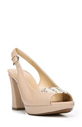 Naturalizer Women's Allegra Sandal Taupe Print Leather