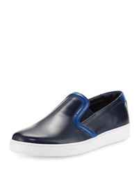 Prada Linea Rossa Colorblock Leather Skate Sneaker Navy