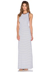 Susana Monaco Striped Racerback Maxi Dress Navy