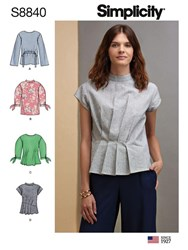 Simplicity 'S Tie Sleeve Blouse Sewing Pattern 8840