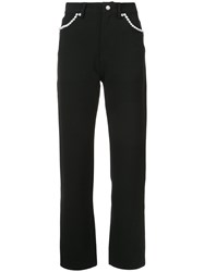 Adam Selman Pearl Trim Trousers Black