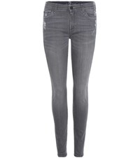 7 For All Mankind The Super Skinny Jeans Grey