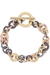Spinelli Kilcollin Avalon 18 Karat Yellow And Rose Gold And Rhodium Plated Sterling Silver Diamond Bracelet