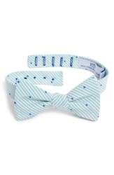 Southern Tide Charleston Dot Cotton And Silk Bow Tie Mint