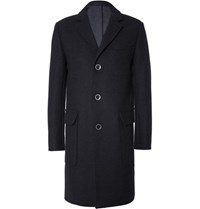 Officine Generale Slim Fit Wool Coat Charcoal