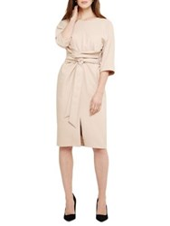 Phase Eight Sophia Kimono Belted Dress Latte
