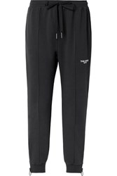 The Upside Embroidered Cotton Blend Jersey Track Pants Black