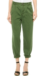 Marc By Marc Jacobs Classic Cotton Pants New Fatigue Green