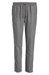Native Youth Men's Pennyworth Pants Charcoal Pinstripe