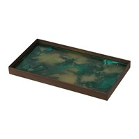 Notre Monde Malachite Organic Glass Tray Medium