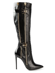 Gianmarco Lorenzi Buckled Boots Black
