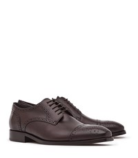 Reiss Kolmer Mens Leather Brogues In Red