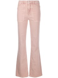 Zadig And Voltaire High Waisted Flared Trousers Pink