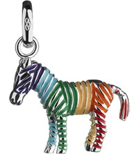 Links Of London Rainbow Zebra Sterling Silver Charm