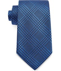 Austin Reed 8Cm Prince Of Wales Check Tie Blue