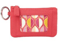 Vera Bradley Zip Id Case Canyon Sunset Wallet Red