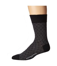 Falke Sensitive Mineral Tie Sock Black Men's Crew Cut Socks Shoes