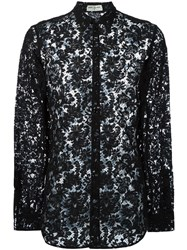Saint Laurent Sheer Lace Shirt Black