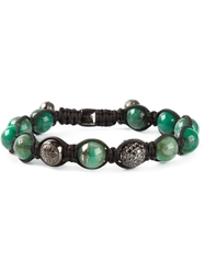 Shamballa Jewels Black Diamond Bracelet Green