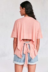 Truly Madly Deeply Jordan Tie Back Tee Pink