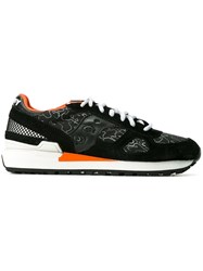 Saucony Patterned Panelled Sneakers Black