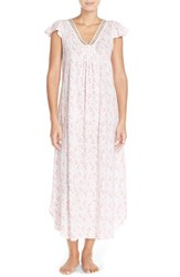 Women's Carole Hochman Designs Floral Cotton Long Nightgown Rosebud Cascade