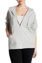 Z By Zella Funnel Neck Zip Up Hoodie Plus Size Gray
