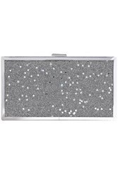 Halston Heritage Woman Minaudiere Embellished Acrylic Clutch Silver