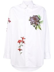 Each X Other Floral Printed Loose Shirt White