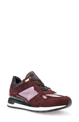 Geox Women's 'Shahira' Sneaker Burgundy Patent Leather