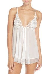 Women's In Bloom By Jonquil Embroidered Chiffon Chemise