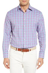 Peter Millar Men's Reserve Plaid Regular Fit Performance Sport Shirt