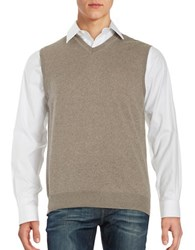 Black Brown Merino Wool Sweater Vest Light Coffee