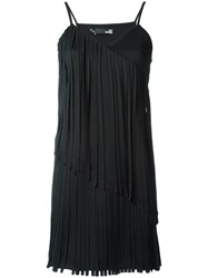 Love Moschino Pleated Trim Dress Black