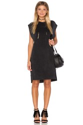 Callahan High Low Mini Dress Charcoal