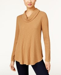Styleandco. Style Co. Ribbed Cowl Neck Knit Top Only At Macy's Salty Nut