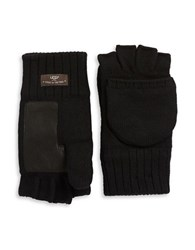 Ugg Faux Fur Lined Convertible Gloves Black