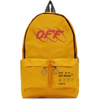 Off White Yellow Industrial Backpack