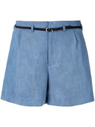 Guild Prime Belted Tailored Shorts Blue