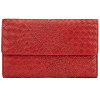 John Lewis Collection Weekend By Rosa Weave Leather Extra Large Flap Purse Red