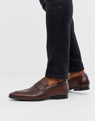 Ted Baker Galah Penny Loafers In Brown Leather Tan